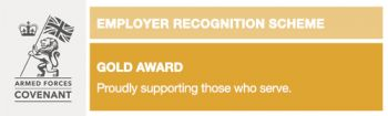 employer recognition scheme gold award badge for m-ec