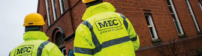 consulting engineers in hi-vis visually inspect property's external